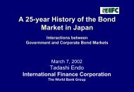 A 25-year History of the Bond Market in Japan - World Bank
