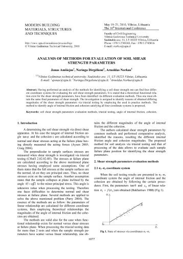 Prediction and determination of undrained shear strength for Soil quality parameters