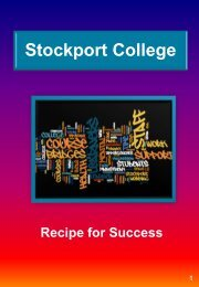 Stockport College's recipe for success - MHFE