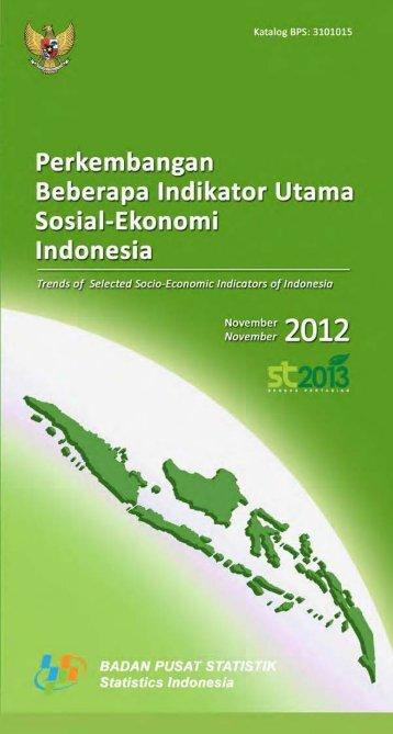 Perkembangan beberapa indikator utama sosial - ekonomi Indonesia