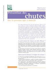 Prévention des chutes chez la personne âgée à domicile - Inpes