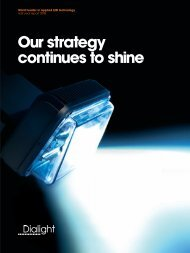 Chairman and Chief Executive's statement - Dialight