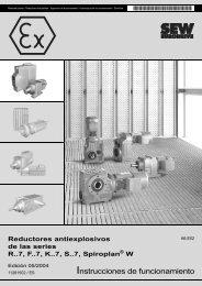 Instrucciones de funcionamiento - SEW Eurodrive