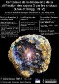 Centenaire de la découverte de la diffraction des rayons X ... - SF2M - Page 3