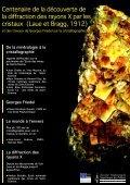 Centenaire de la découverte de la diffraction des rayons X ... - SF2M - Page 5