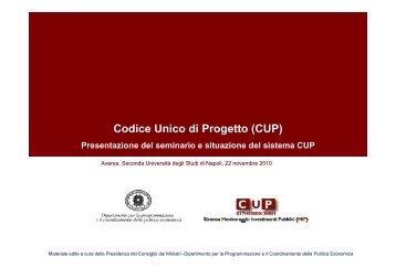 Codice Unico di Progetto (CUP) - Università degli Studi di Napoli ...