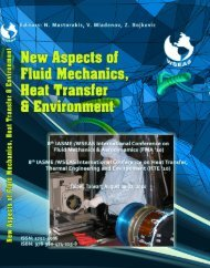 NEW ASPECTS of FLUID MECHANICS, HEAT ... - Wseas.us