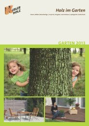 Holz im Garten GARTEN 2013