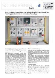 Eins für Zwei: Innovatives PV-Testgeräteset für ... - IKS Photovoltaik