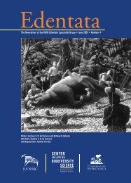 Edentata 4 - Anteater, Sloth & Armadillo Specialist Group