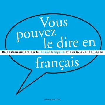 Voyages - Délégation générale à la langue française et aux langues ...