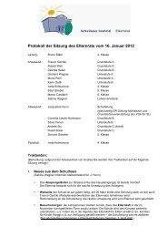 Protokoll der Sitzung des Elternrats vom 16. Januar 2012 - Schulen ...