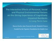 Presentation [pdf] - Centre for Healthy Aging