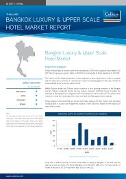Bangkok Luxury & upper ScaLe HoteL Market report - Colliers