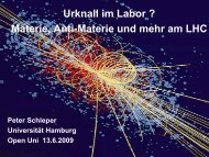 Jenseits der Antimaterie Urknall im Labor ? Materie ... - Podcampus
