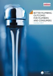 Annual Report 2006-07 - Plumbing Industry Commission