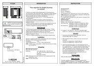 TTC25X INSTRUKTION INSTRUKTION Triac-regulator för ... - regin