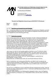 Protokoll der Mitgliederversammlung - MNU Landesverband ...
