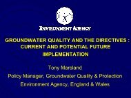 current and potential future implementation - The UK Groundwater ...
