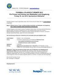 FUSSBALL-PLAUSCH-TURNIER 2012 Für Firmen und Vereine aus ...