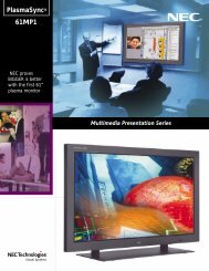 NEC 050123 BROCH-61MP1 - Alternative Video Solutions, Inc.
