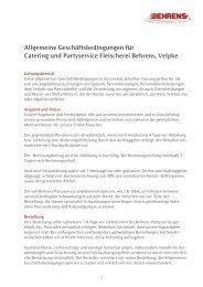 Allgemeine Geschäftsbedingungen für Catering und Partyservice ...
