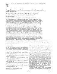 Composition and sources of carbonaceous aerosols at three ...