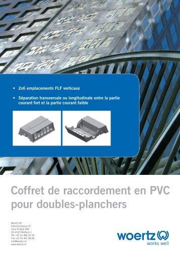 Coffret de raccordement en PVC pour doubles-planchers