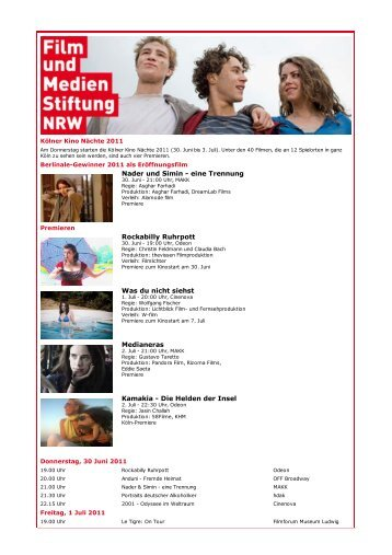Kölner Kino Nächte 2011 [pdf]