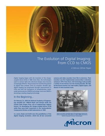 The Evolution of Digital Imaging: From CCD to CMOS - Eric Fossum