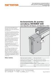 Accionamiento de puertas correderas DICTAMAT 650 - Dictator