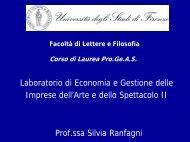 Laboratorio di Economia e Gestione II (lezione n.1).