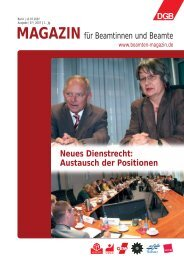 Ausgabe 07/2007 - Landesbeamte