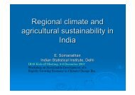 Regional climate and agricultural sustainability in India