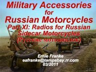 Military Accessories Russian Motorcycles - Good Karma Productions