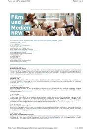 Seite 1 von 3 News aus NRW August 2011 12.01.2012 http://www ...