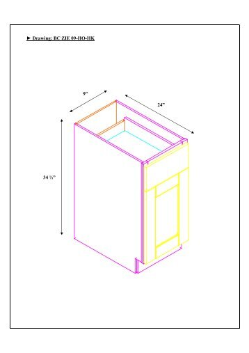 BC ZIE09- drawing - Cabinets To Go