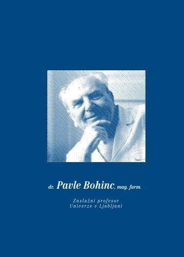 dr. Pavle Bohinc, mag. farm. - Fakulteta za farmacijo