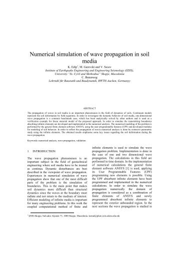 Numerical simulation of wave propagation in soil media - Kivi Niria