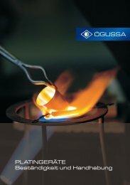 Richtiger Umgang mit Platingeräten - ÖGUSSA Österreichische Gold