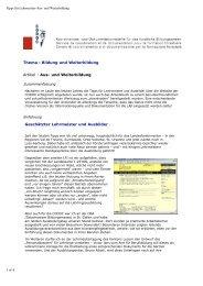 Thema : Bildung und Weiterbildung Artikel : Aus- und ... - Codoc