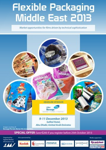 Flexible Packaging Middle East 2013 programme - AMI Consulting