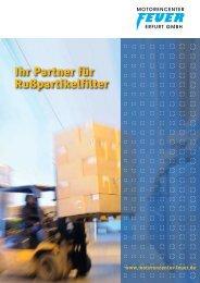 Ihr Partner für Rußpartikelfilter - Motoren AG Feuer