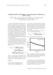 Charged hadron production in proton-proton collisions ... - Sympnp.org
