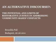 An Alternative Discours? - European Crime Prevention Network