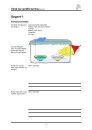 Opgaver, vandforsyning fase 2 - EVU