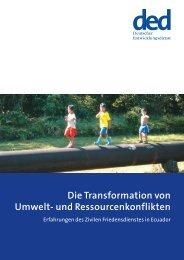Die Transformation von Umwelt- und Ressourcenkonflikten - Ziviler ...