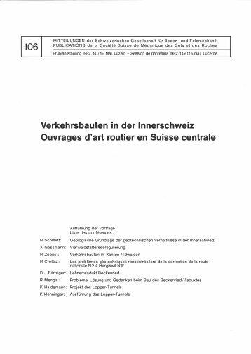 106 Verkehrsbauten in der lnnerschweiz Ouvrages ... - SGBF-SSMSR