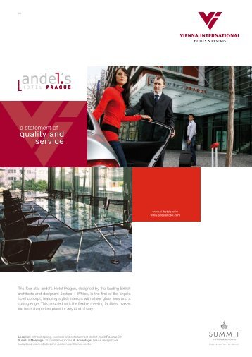 Factsheet download (pdf) - Vienna International Hotels & Resorts