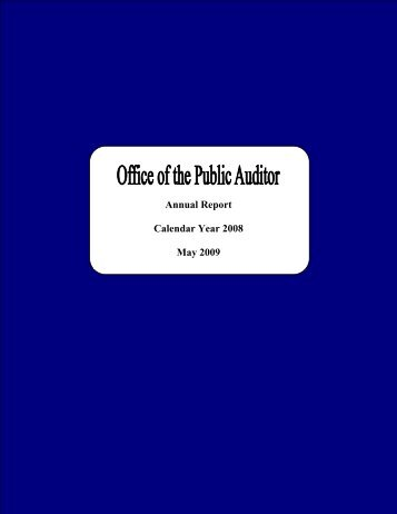 2008 - The Office of Public Accountability